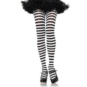 🎃 Striped black tights to complete costume look!
